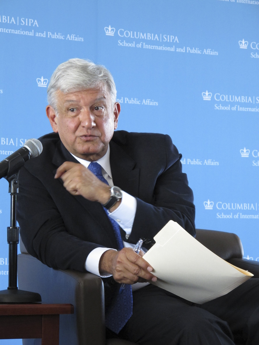 AMLO en Universidad Columbia, NY 03